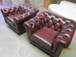 Chesterfield Leather Lounge Restoration After