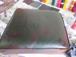 Chesterfield Leather Lounge Cushion Restoration Before
